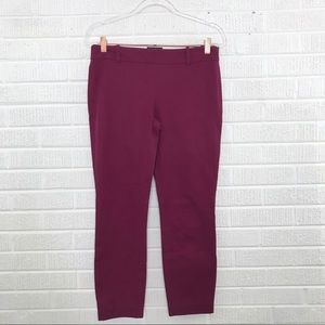 J. Crew Minnie Cropped Pants Stretch Twill Size 4